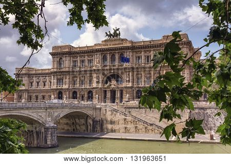 Corte di cassazione, cassation court by cloudy day, Roma, Italy