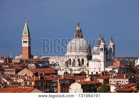 Campanile and Santa Maria della Salute, Venice