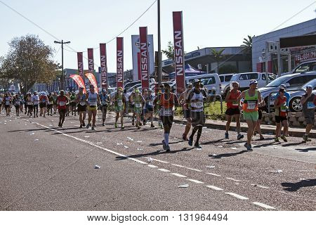Spectators And Runners At Comrades Marathon In Durban 25