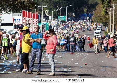 Spectators And Runners At Comrades Marathon In Durban 23
