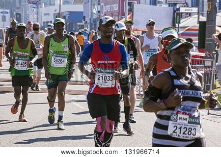 Spectators And Runners At Comrades Marathon In Durban 19