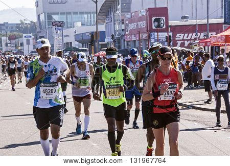 Spectators And Runners At Comrades Marathon In Durban 13