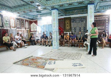 Ancient Carpet Shop In Kairouan