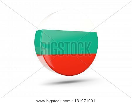 Round Icon With Flag Of Bulgaria