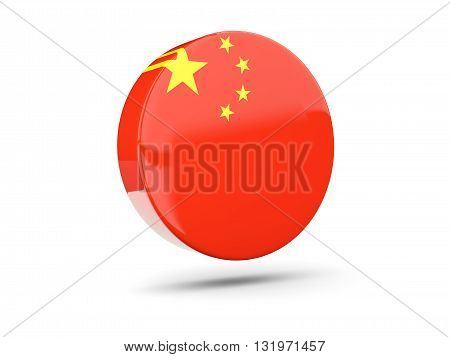 Round Icon With Flag Of China