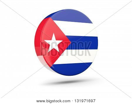 Round Icon With Flag Of Cuba