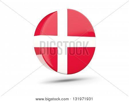 Round Icon With Flag Of Denmark