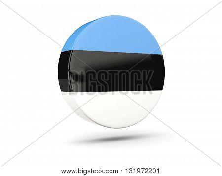 Round Icon With Flag Of Estonia