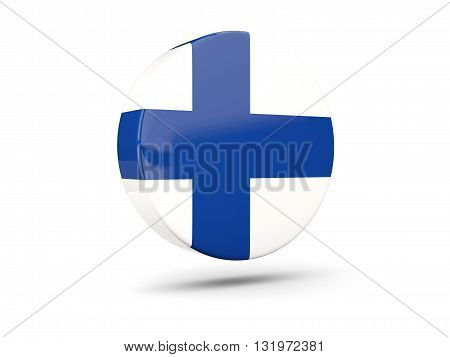 Round Icon With Flag Of Finland