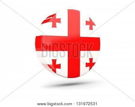 Round Icon With Flag Of Georgia