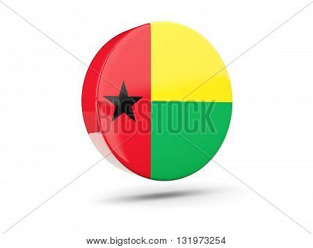 Round Icon With Flag Of Guinea Bissau