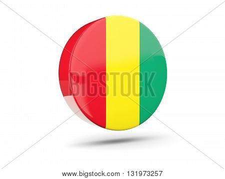 Round Icon With Flag Of Guinea