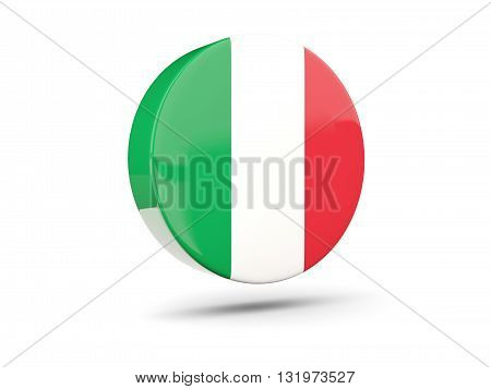 Round Icon With Flag Of Italy