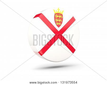 Round Icon With Flag Of Jersey