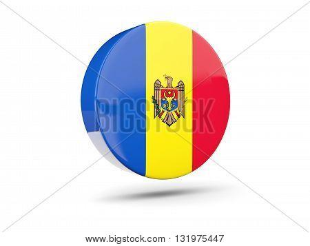 Round Icon With Flag Of Moldova