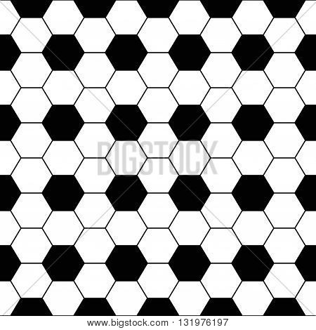 Vector Seamless Background. Tile Floor Hexagonal Grid. Black And White Checkerboard Pattern