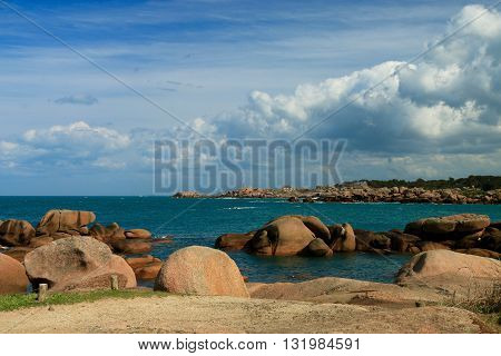 The path of the customs officers, PERROS GUIREC Brittany, France