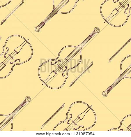 Classical Music Instruments Seamless Pattern.