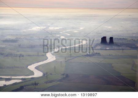 Misty Morning Aerial