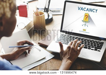 Vacancy Job Available Vacant Job Concept