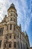 Kronborg castle made famous by William Shakespeare in his play about Hamlet situated in the Danish harbour town of Helsingor. poster