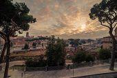 Rome, Italy: The Roman Forum, Latin: Forum Romanum, Italian: Foro Romano, in the sunrise. Old Town of the city poster