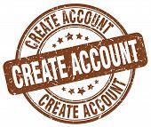 create account brown grunge round vintage rubber stamp.create account stamp.create account round stamp.create account grunge stamp.create account.create account vintage stamp. poster