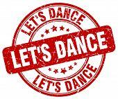 let's dance red grunge round vintage rubber stamp.let's dance stamp.let's dance round stamp.let's dance grunge stamp.let's dance.let's dance vintage stamp. poster