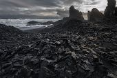 Dramatic seascape at Snaefellsnes Penninsula Western Iceland poster