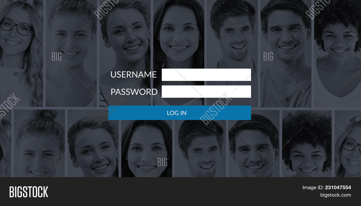 login page against image photo free trial bigstock