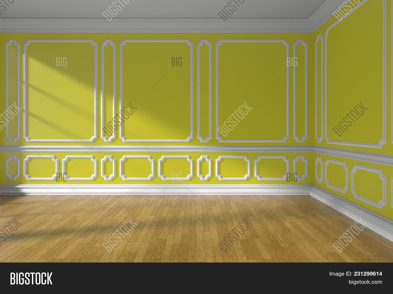 Yellow Empty Room Wall Image & Photo (Free Trial)   Bigstock