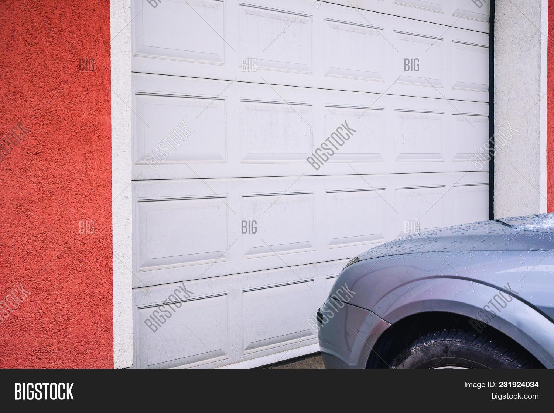 Garage Door Upvc Image Photo Free Trial Bigstock