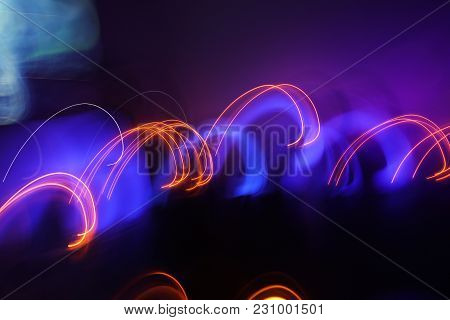 Abstract Background Of Night Light On Street