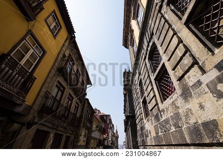 Traditional Historical City Buildings Construction Porto Portugal