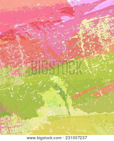 Abstract Watercolor Background. Colourful Template. Bright Place For Text. Modern Design Acrylic. Dy