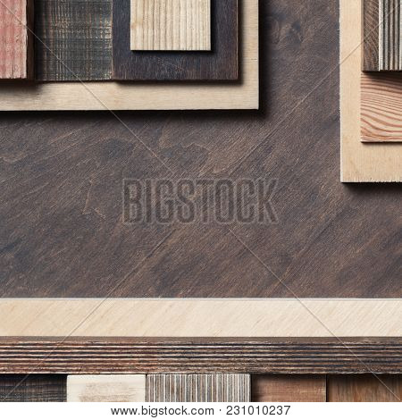 Abstract scrap wood background