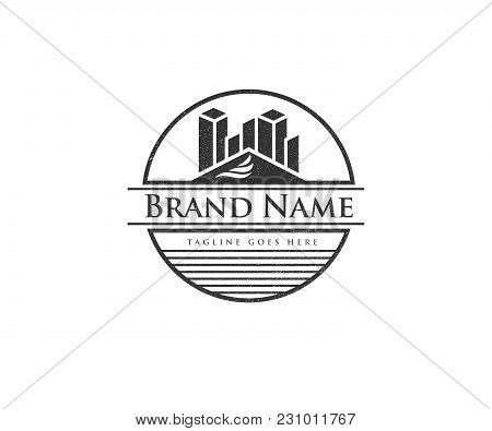 Real Estate Logo Concept Illustration,building Logo In Classic Graphic Style, Citysearch Logo, Abstr