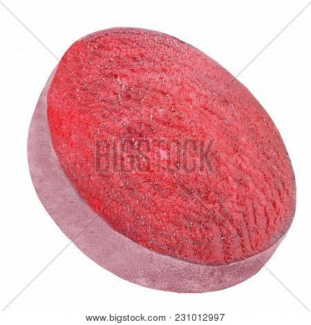 Isolated Beet. One Piece Beet Isolated On White Background With Clipping Path As Package Design Elem