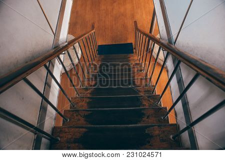 View Of Staircase With Handrail  Inside Ferry Ship Services