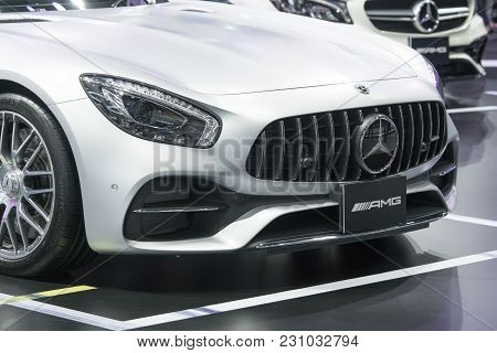 Bangkok-thailand-3 December 2017: Car On Display At Motor Show Muangthong 2017 - The Biggest Motor S