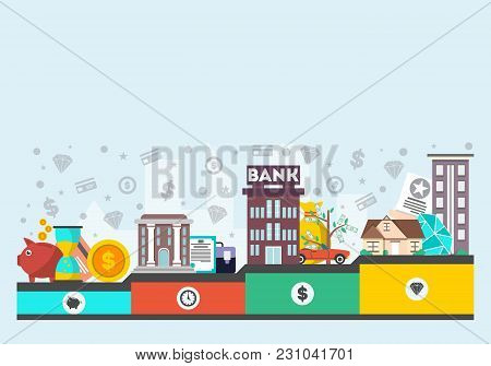 Investment In Yourself  Illustration. Design Concept For Smart Investment, Finance And Banking, Care