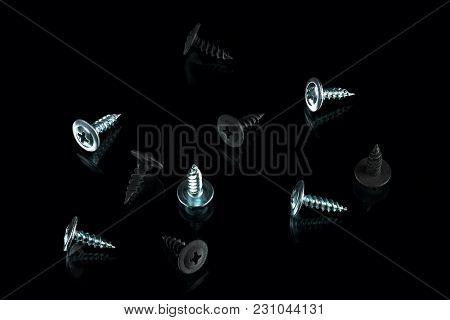 Silver Chrom And Black Anodized Screws