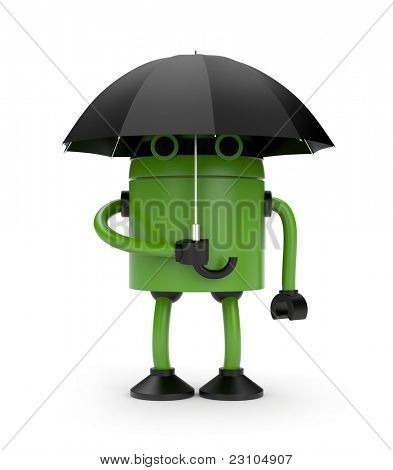 Robot and umbrella