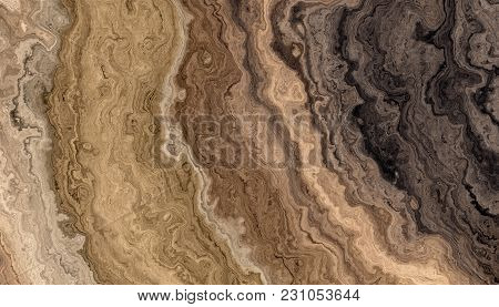 Texture Of Roots Of Tree With Wavy Lines And Age Rings. Colored Abstract Background. 2d Illustration
