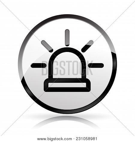 Illustration Of Siren Icon On White Background