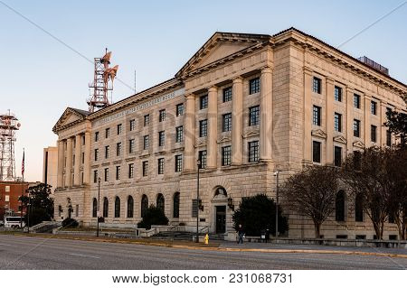 Montgomery, Alabama, Usa - January 15, 2018: The Historic Portion Of The Frank M. Johnson Jr. Federa