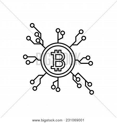Crypto Distribution Icon. Outline Illustration Of Crypto Distribution Vector Icon For Web And Advert