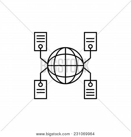 Global Network Icon. Outline Illustration Of Global Network Vector Icon For Web And Advertising