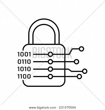 Cryptography Icon. Outline Illustration Of Cryptography Vector Icon For Web And Advertising