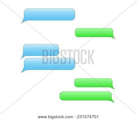 Short Message Service Bubbles. Vector Chat Bubbles